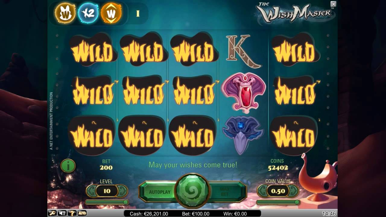 The Wish Master slot - gratis online video slotspil